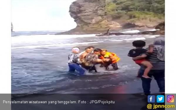 Empat Wisatawan Terseret Ombak, Dua Belum Ditemukan - JPNN.com