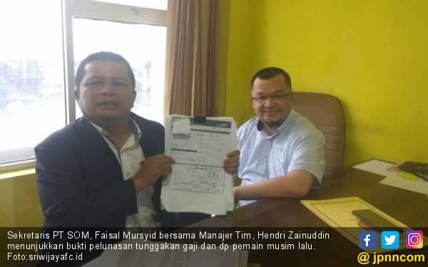 Sekretaris PT SOM Klaim Utang Sriwijaya FC ke Pemain sudah Dilunasi - JPNN.com