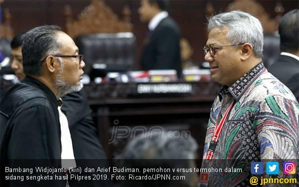 KPU Bakal Jawab Persoalan Status Ma'ruf Amin di Sidang Sengketa Pilpres 2019 Hari Ini - JPNN.com
