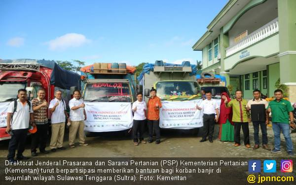 Layak Dicontoh, Ditjen PSP Kementan Beri Bantuan Korban Banjir di Sultra - JPNN.com