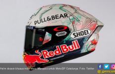 MotoGP Catalunya: Marc Marquez Pamer Helm Khusus Seri Kandang - JPNN.com