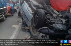 Dikejar dan Ditembaki Bandit Jalanan, Pajero Terbalik, 10 Penumpang Luka-luka - JPNN.com