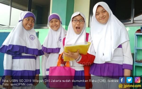 Nilai UN SD 2019 Wilayah DKI Jakarta, Terbanyak 215.00 – 220.00 - JPNN.com