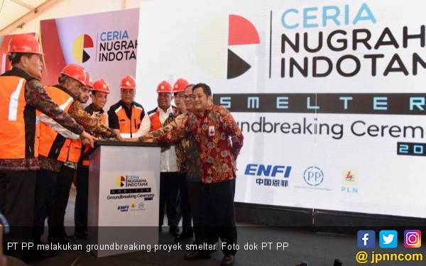 Groundbreaking Proyek Smelter, Kontrak Baru PT PP Capai Rp10,57 Triliun - JPNN.com