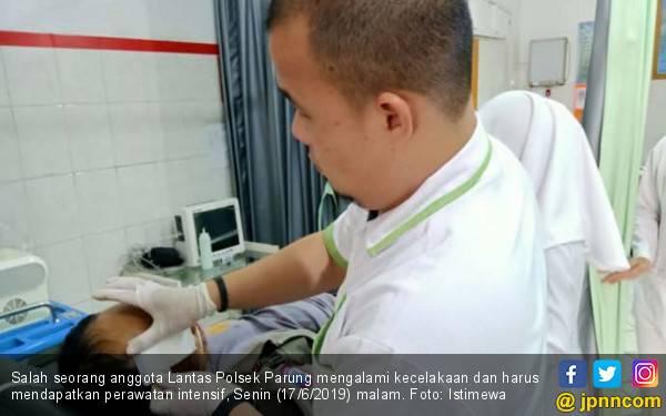 Anggota Polsek Parung Luka Parah Usai Mengalami Kecelakaan - JPNN.com