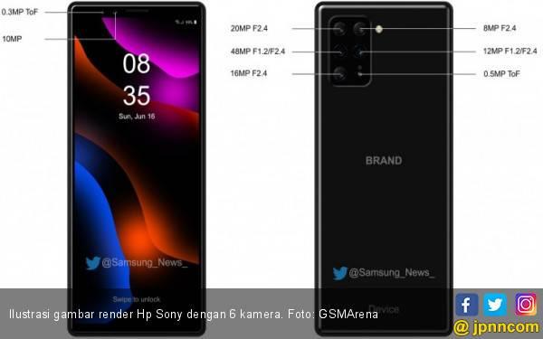 Sony Bakal Realisasikan Hp dengan 6 Kamera? - JPNN.com