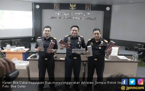 Kanwil Bea Cukai Kepri Deklarasikan Gempur Rokok Ilegal - JPNN.com