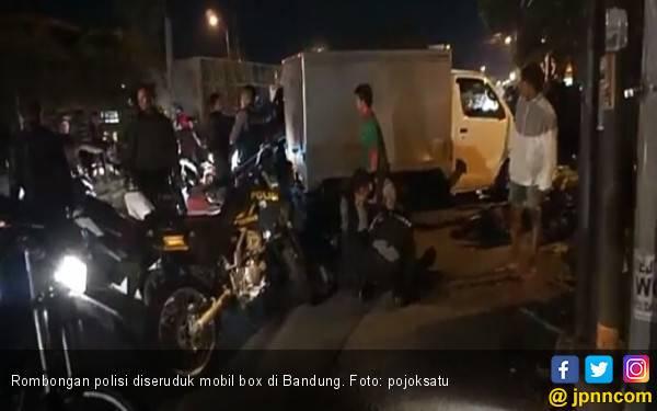 Konvoi Motor Polisi Diseruduk Mobil Boks, 1 Tewas, 6 Luka - JPNN.com