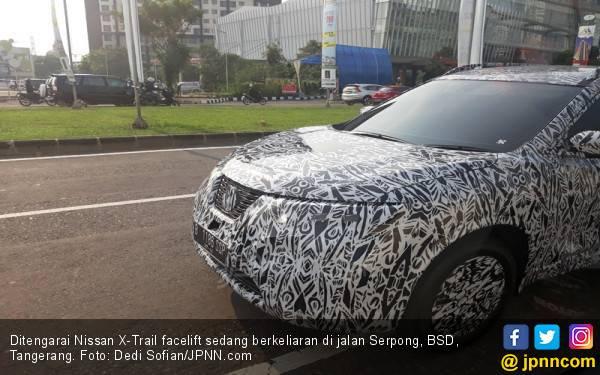 Nissan X-Trail Facelift Tertangkap Berkeliaran di Jalan Raya Serpong - JPNN.com
