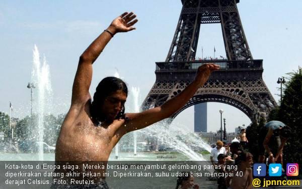 Eropa Diterpa Gelombang Panas, Paris Siapkan 900 Tempat Mengadem - JPNN.com