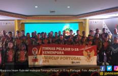 Timnas Pelajar U-15 Bertolak ke Portugal, Menpora: Jangan Berkecil Hati! - JPNN.com