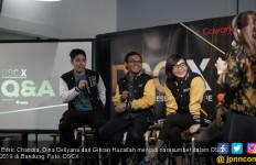 Dina Dellyana dan Gibran Huzaifah Berbagi Kiat Bangun Usaha di DSCX Bandung - JPNN.com