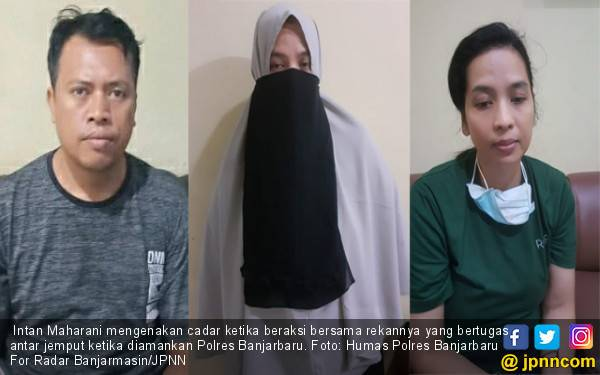 Bu Intan Pakai Hijab dan Cadar saat Melakukan Perbuatan Terlarang - JPNN.com