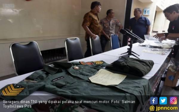 Duet TNI Gadungan Pencuri Motor Berakhir di Tangan Polisi - JPNN.com