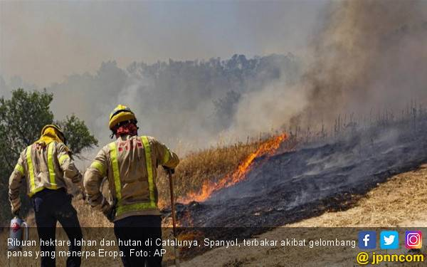Gelombang Panas Menggila, Spanyol Terbakar - JPNN.com