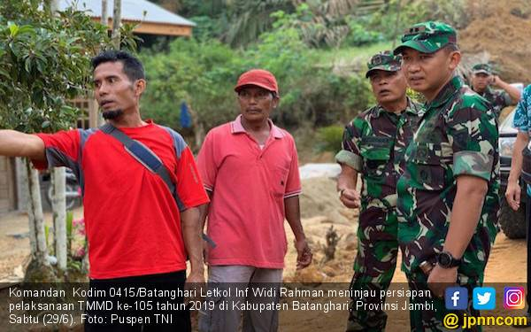 Pesan Dandim 0415 Jelang Pelaksanaan TMMD ke-105 di Batanghari - JPNN.com