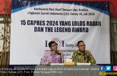 Daftar 15 Nama Kandidat Capres 2024 versi LSI Denny JA, 1 Masih Misterius - JPNN.com
