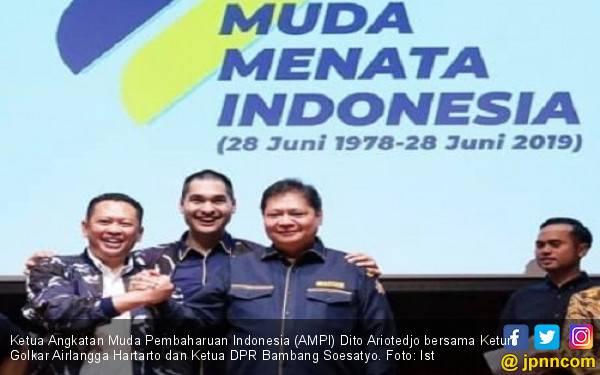 Politikus Muda Golkar Bahagia Airlangga dan Bamsoet Kembali Bersatu - JPNN.com