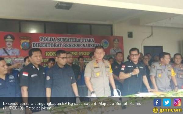 59 Kg Sabu-sabu Berhasil Disita dari Tujuh Tersangka Narkoba Jaringan Malaysia - JPNN.com