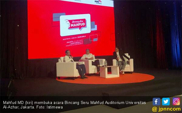 Bincang Seru Mahfud MD, Dibuka Serius soal Tuhan, Ditutup Cak Lontong dengan Jenaka - JPNN.com
