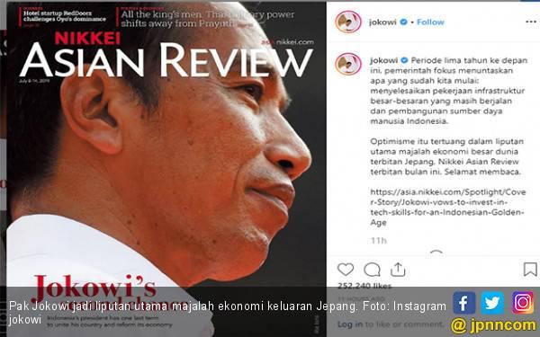 Pak Jokowi jadi Sampul Depan Majalah Terbitan Jepang - JPNN.com