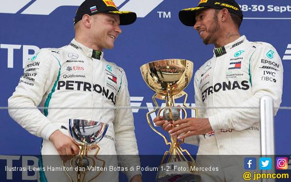 Mercedes Kembali Kuasai Podium 1-2 F1 Inggris 2019 - JPNN.com