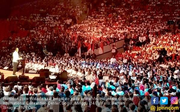 Pidato Sekitar 20 Menit, Jokowi tak Sebut Nama Prabowo - JPNN.com
