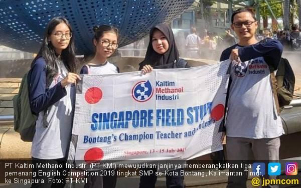 PT Kaltim Methanol Kirim Pemenang English Competition 2019 ke Singapura - JPNN.com