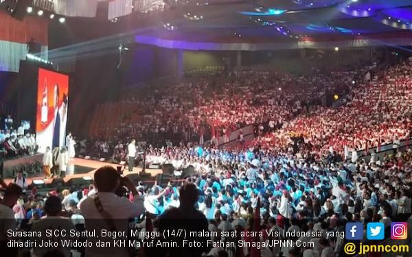 Jokowi Berpidato di Visi Indonesia, Massanya Tak Sebanyak saat Konvensi Rakyat - JPNN.com