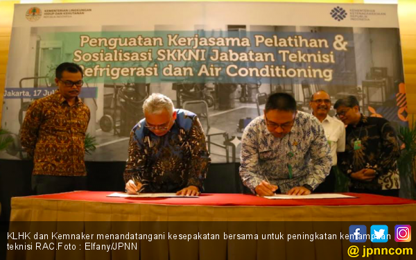 KLHK dan Kemnaker Kompak Lindungi Lapisan Ozon - JPNN.com