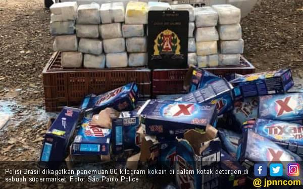 80 Kilo Kokain di Kotak Detergen Hebohkan Brasil - JPNN.com