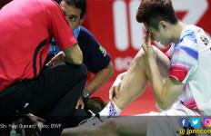 Lihat Detik - Detik Shi Yuqi Cedera dan Mundur dari Blibli Indonesia Open 2019 - JPNN.com