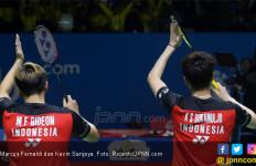 Sempat Ditegur Wasit, Minions Masuk Semifinal Japan Open 2019, eh Ketemu Tiang Listrik Lagi - JPNN.com