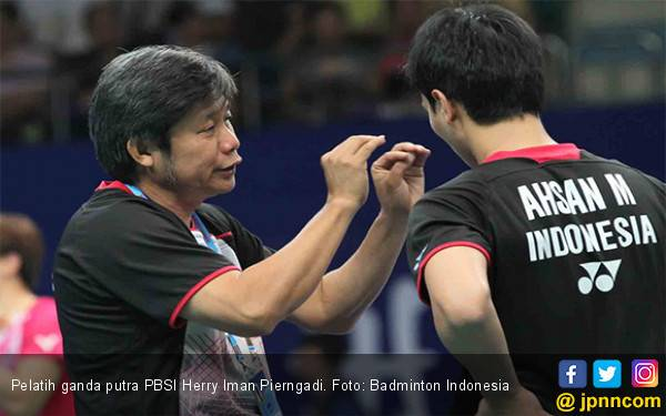 Minions vs Daddies di Final Blibli Indonesia Open 2019, Herry IP: Saya Minum Kopi Saja di Tribune - JPNN.com
