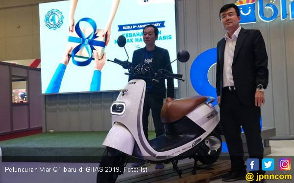 Viar Q1 Baru Melantai di GIIAS 2019, Lebih Segar dengan Jangkauan Kian Jauh - JPNN.com