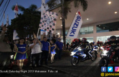 400 Bikers Tumpah Ruah di Suzuki Saturday Night Ride 2019 Makassar - JPNN.com
