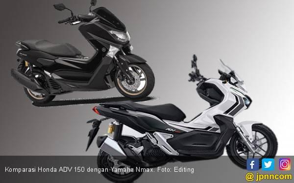 Komparasi Honda ADV 150 dengan Yamaha Nmax - JPNN.com
