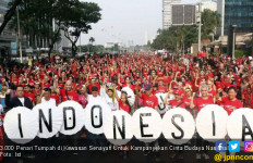 3.000 Penari Tumpah di Kawasan Senayan Untuk Kampanyekan Cinta Budaya Nasional - JPNN.com