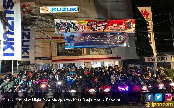 Suzuki Saturday Night Ride Menggerlap Kota Banjarmasin - JPNN.com