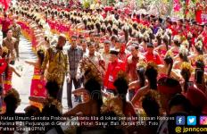 Gemuruh Teriakan Kader PDIP Sambut Prabowo Subianto di Rakernas I - JPNN.com