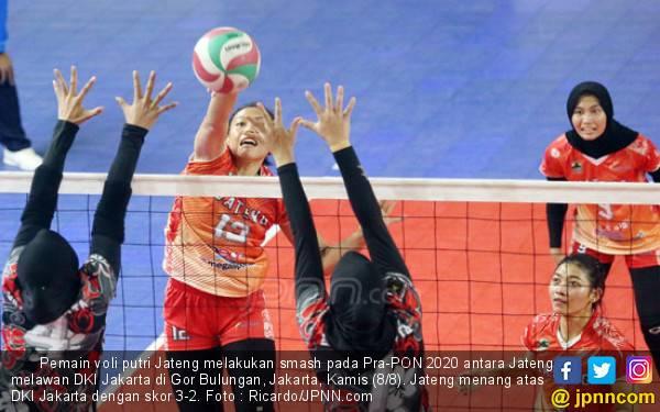 Tekuk Jakarta, Tim Voli Putri Jateng ke Final Pra-PON 2020 - JPNN.com