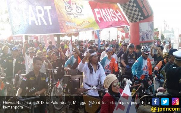 Gowes Nusantara 2019 di Palembang Berlangsung Meriah - JPNN.com