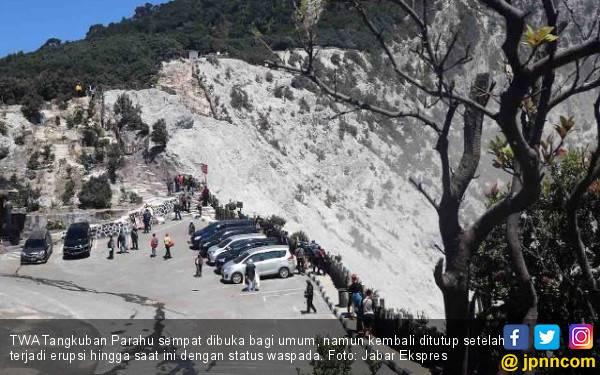 Waspada, Gunung Tangkuban Parahu Masih Erupsi Puluhan Kali - JPNN.com
