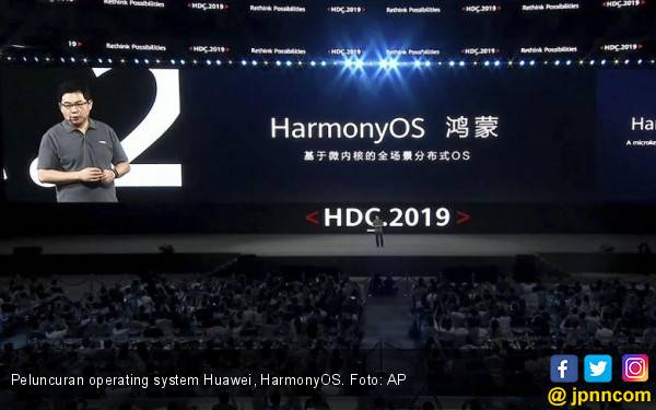Terus Melawan, Huawei Luncurkan HarmonyOS - JPNN.com