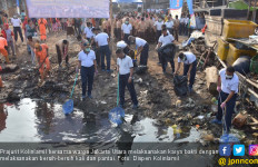 Kolinlamil Bersama Warga Jakarta Utara Membersihkan Kali dan Pantai - JPNN.com