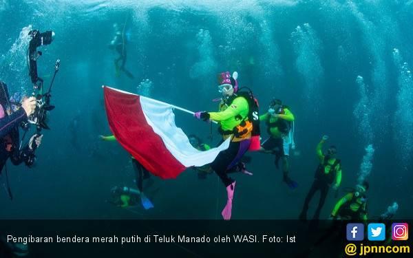 Wanita Selam Hadiahkan Rekor Dunia di HUT Ke-74 RI - JPNN.com