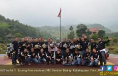 HUT ke-74 RI, Touring Kemerdekaan JMC Sembari Berbagi Kebahagiaan - JPNN.com