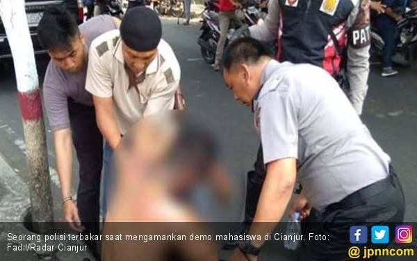 Kabar Terbaru Kasus Terbakarnya Polisi di Cianjur - JPNN.com
