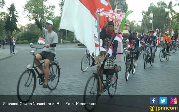 Gowes Nusantara 2019 di Bali Kampanyekan Bebas Sampah 2020 - JPNN.com