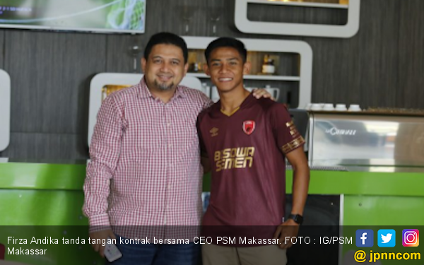 Komentar Pertama Firza Andika Setelah Resmi Berkostum PSM Makassar - JPNN.com